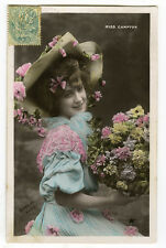 c 1907 French Theater Miss CAMPTON YOUNG BEAUTY French photo postcard