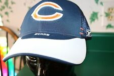 Chicago Bears Hat All Mesh-back Cap Navy & White Reebok NFL Size L-XL