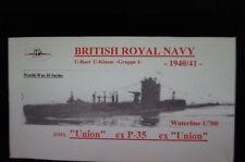 HP Models  Brit. U-Boot der U-Klasse 1. Gruppe HMS Union -1940/41-  1:700