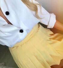 ZARA NWT Box Pleated Mini SKIRT Size Xs Xsmall Yellow 2018