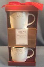 NIB Godiva 1926 Belgium 2 extra large mug gift set w/ 2 dark chocolate cocoa NEW