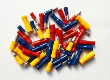 50 Pack Bullet Connectors . Red, Blue & Yellow Crimp Terminals