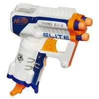 NERF N-STRIKE ELITE TRIAD EX-3 BLASTER TOY GUN - shoots up to 90 feet HASBRO AUS