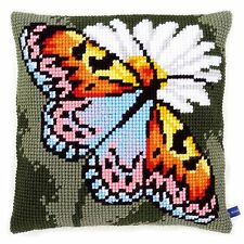 Butterfly :Vervaco Chunky Cross Stitch Cushion Front Kit - PN0155050