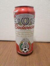 Budweiser Soccer Cerveza Oficial Federacion Mexicana De Futbol 16 oz Beer Can