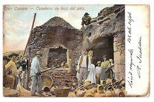 3168.-GRAN CANARIA -Cosederos de loza del país   (Postal Sin División)(1906)