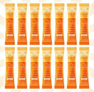 14 Packets Vital Proteins Vitality Immune Booster Clementine EXP 4/23/22