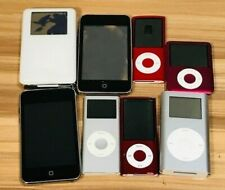 LOT OF 8 iPODS FOR PARTS/REPAIR TOUCH/MINI/NANO