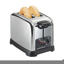 Hamilton Beach Bread Toaster Shade Selector Kitchen Wide Slot 2 Slice Chrome New