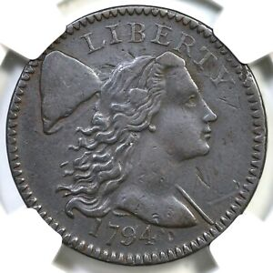 1794 S-60 R-3 NGC XF 45 Head of 94 Liberty Cap Large Cent Coin 1c