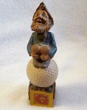 "Tom Clark Gnome Figurine Golf Ball Alphabet G Cairn 1993 Resin 5.5"""