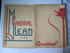 WP MCLEAN JR HIGH SCHOOL 1946 & 1947 CARDINAL YEARBOOKS - FORT WORTH TX