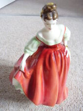 Royal Doulton England porcelain lady figurine,Fair Lady,1962,red