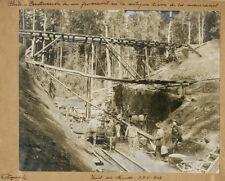 Photo Argentique Chilie Construction FerroviaireVers 1910