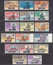 British Virgin Islands 1970 QEII Ships Set Mint SG240-256 cat £26