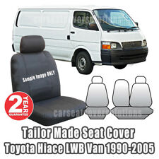 Tailor Made Seat Covers Fit TOYOTA HIACE LWB Van Outback Canvas 1990-2005 Black