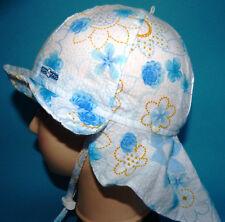 KU 48 49 50 51 52 53 54 55 56 BINDEN Nackenschutz Sommer Sonnen Hut Mädchen blau
