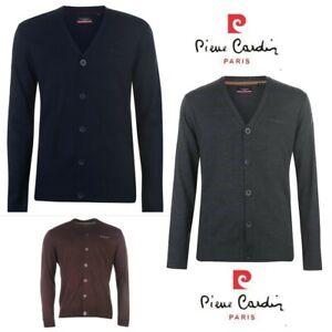 Pull cardigan tricot Homme Pierre Cardin Paris col v a boutons mode S au XXL