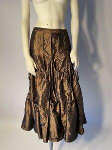 Cordelia Skirt Creative Style size small metallic Browne taffeta fabric