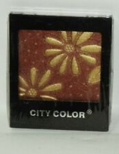 City Color Pressed Powder Eyeshadow With Gold Leafs Sealed Rare