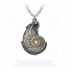 Alchemy Gothic Pewter Fibonacci's Golden Spiral Steampunk Pendant Necklace P799