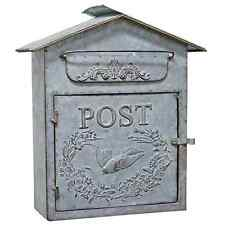 Vintage style Country Tin Birdhouse Mail Box Galvanized Decorative