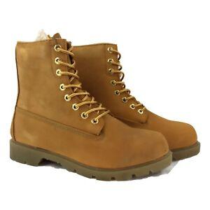 Fuda Men 8106 TAN Waterproof Work Safety Leather  Boots (E,W)