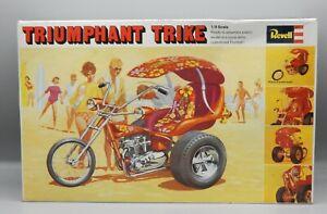 RARE vintage Revell 1/8 scale TRIUMPHANT TRIKE model kit w/original box UNBUILT
