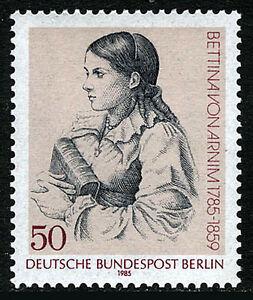 Germany-Berlin 9N498, MNH. Bettina von Arnim, Writer, 1985