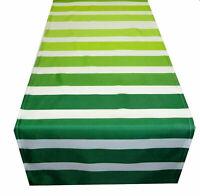 Tischdecke Tischläufer grün weiß gestreift Streifen modern Stoff 40 x 130 cm