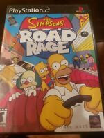 THE SIMPSONS: ROAD RAGE Sony Playstation 2 PS2 Video Game Black Label COMPLETE
