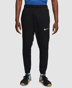 $75 Nike Men Black Athletic Fit Fleece Stretch Sport Sweatpants Pants US Size XL