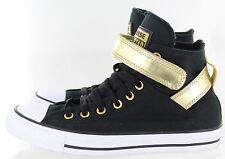 Converse Women's Chuck Taylor Brea Hi Sneaker Black Canvas Gold White Size 7 US