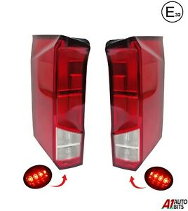 Pair L & R Side For Vw Crafter New Model 17+ Rear Back Tail Lights Lamp Lens E32