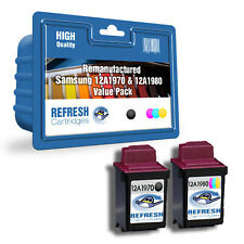 REFRESH CARTRIDGES VALUE PACK 12A1970 & 12A1980 INK COMPATIBLE WITH SAMS