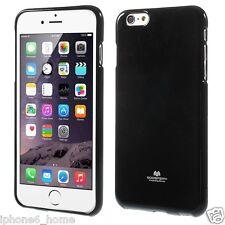 for iPhone 6/6s Genuine Mercury Goospery Metallic Black Soft Jelly Case Cover