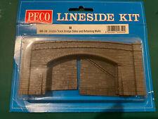 Road Bridge Sides, stone type, double track - N gauge Peco NB-34