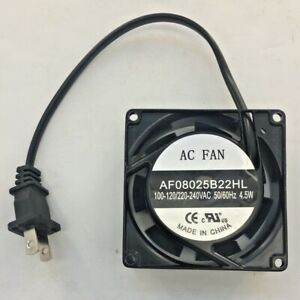 """Cooling Fan 3 1/8"""" x 3 1/8"""" x 1"""" High Speed Cabinet 110V AC Pre-Wired Electronic"""