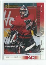 Maxime Ouellet Signed 2000/01 Upper Deck CHL Prospects Card #87