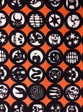 AH64 Los Diablitos Papercut Devil Snake Skull Muertos Bat Cotton Quilt Fabric