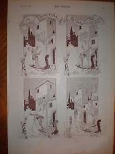 Un romance fatal Rene Bull 1893 impresión de dibujos animados