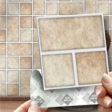 18 Tri Piedra Pegar En Auto Adhesivo Pegatinas Azulejo de la pared para la Cocina & Cuarto De Baño