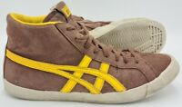 Asics Onitsuka Tiger Mid Suede Trainers D3Z4L Brown/Yellow UK7.5/US8.5/EU42