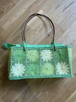 GREEN FLORAL SHOULDER BAG PARTY CLUB HOLIDAY SUMMER SUN IBIZA MARBS PRETTY CUTE