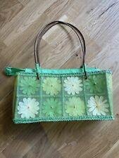 GREEN FLORAL SHOULDER BAG PARTY CLUB HOLIDAY SUMMER SUN IBIZA MARBS PRETTY CUTE