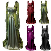 Women Gown Dress Medieval Renaissance Cosplay Wedding Elegant Costume Plus Size