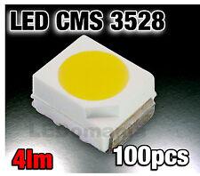 124/100# LED CMS Blanche  PLCC2 3528 100pcs 1400mcd -  white - blanc