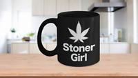 Marijuana Leaf Mug Black Coffee Cup Funny Gift for Stoner Girl, Girlfriend,