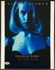NICOLE KIDMAN SIGNED 11X14 PHOTO PSA DNA COA AUTOGRAPH TO DIE FOR AE82733