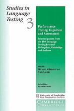 Studies in Language Testing: Performance Testing, Cognition and Assessment 3...